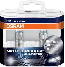 Osram Night Breaker Unlimited H1/12V 55W P14,5s set 2ks