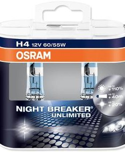Osram H4 12V 60 55W P43T Night Breaker Unlimited Box