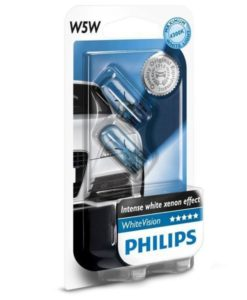 Philips 12V 5W W2,1x9,5d W5W WhiteVision blister 2ks