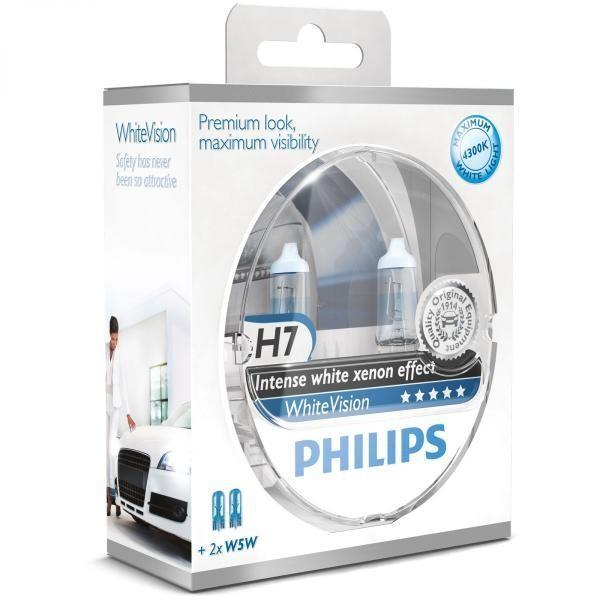 Philips 12V H7 55W PX26d+W5W WhiteVision ultra Box